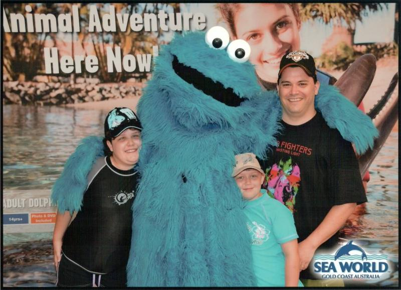 Cookie Monster, Husband & Kids