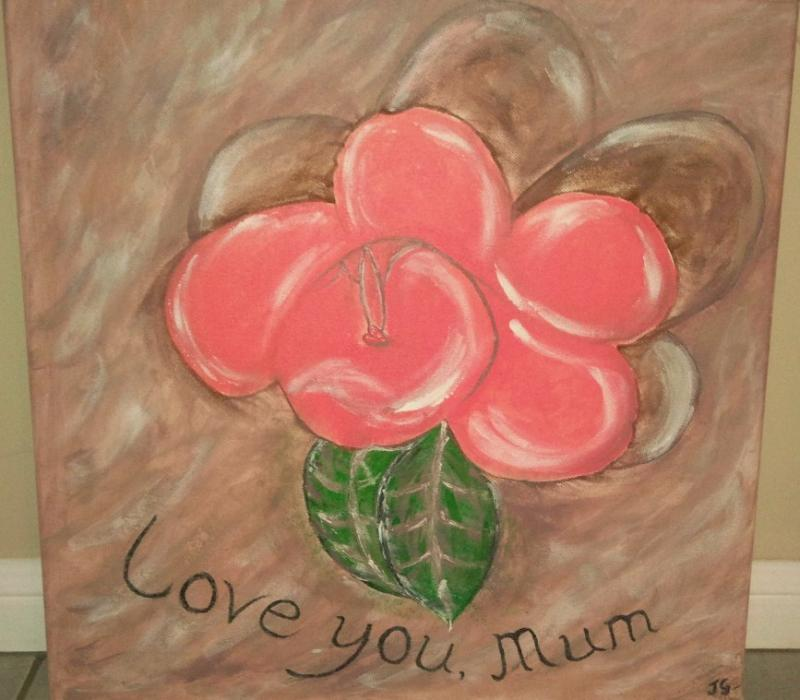 Love you, Mummy Painting